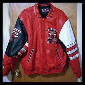 Chicago Bulls 3 peat Leather Jacket